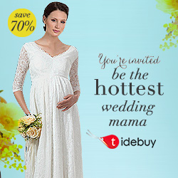 Tidebuy Maternity Wedding Dress